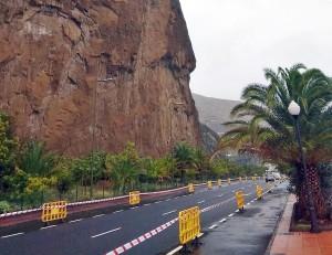 Der Risco de la Concepción: Notfallsanierung gegen die Steinschläge beginnt.