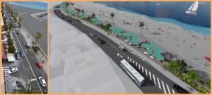 Original und Modell: Umgestaltung der Avenida Marítima in Santa Cruz beginnt demnächst.