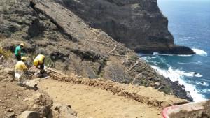 Wanderwege auf La Palma: Die Sanierung geht weiter. Foto: Cabildo