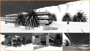 Modell des Gebäudes, wo künftig