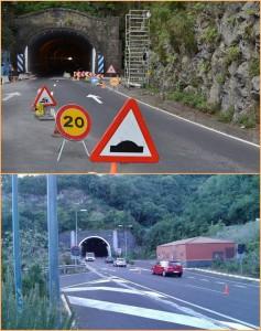 Der Alte Tunnel ist diese Woche gesperrt: Der Verkehr geht zweispurig durch den Neuen Tunnel!