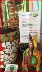 """Die tierischen """"Sparbüchsen"""" von Benawara: Eine steht zum Beispiel in Puerto Naos bei Silke im Gecko-Laden."""