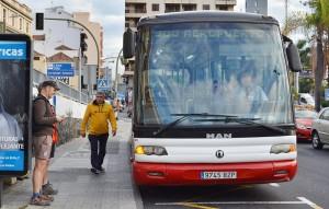 Linie 500: Dieser Bus pendelt jetzt öfter zwischen Santa Cruz de La Palma und dem Airport.