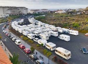 So sah es bei den bisherigen Wohnmobil-Treffen in Los Cancajos aus: Beim Regional-Meeting der Caravans muss für die erwarteten