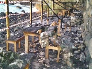 Feuer beim Feiern: Erholungszone in Puntallana ist abgebrannt.