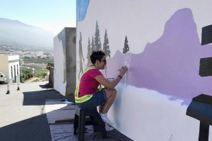 An der Straße zur Caldera: Wandbild