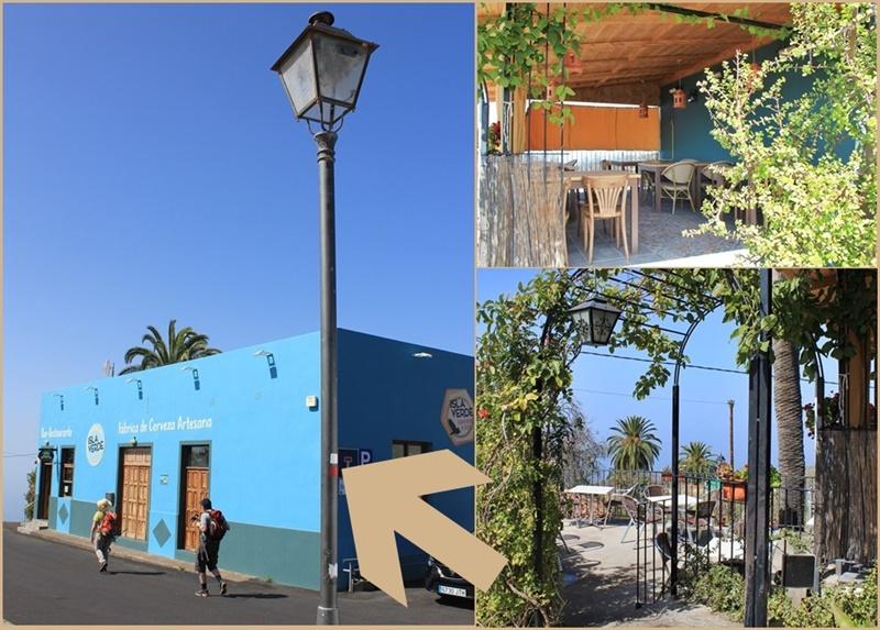 Die Gasthausbrauerei Cervecería Isla Verde: liegt kurz vorm südlichen Ortseingang von Tijarafe direkt an der Hauptstraße. Es gibt einen Gastraum und drei Biergärten rings ums Haus - Parkplätze sind ebenfalls vorhanden!