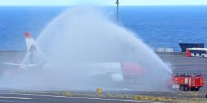 Norwegian auf dem Airport SPC: übernahm den Transport der Inselgäste aus dem Norden Europas nach der Pleite von Primera Air und kommt derzeit immer mittwochs angeflogen. Foto: Carlos Díaz