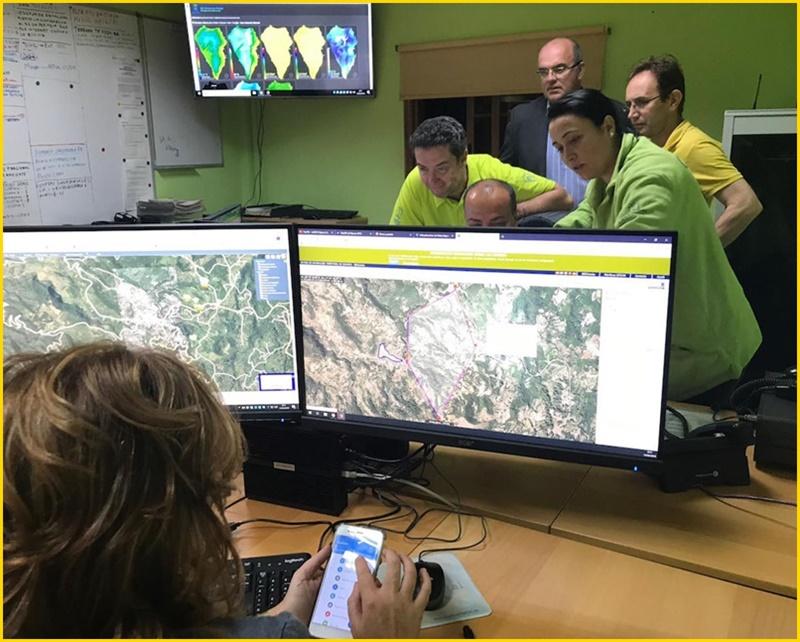 CECOPIN: Das Notfallzentrum in Brena Alta koordinierte die Einsätze im Waldbrandgebiet von Garafía. Foto: Cabildo