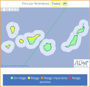 Gelber Alarm auf ganz La Palma: Sturmböen bis zu 75 Sachen fegen über die Insel.