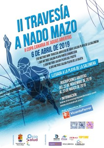 Open Water-Wettbewerbe im Osten von La Palma: AthletInnen von allen Inseln schwimmen um die Wette.