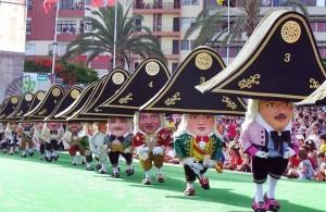 Zwergentanz: Das heute wohl bekannteste Event der Bajada in Santa Cruz de La Palma. Foto: Stadt