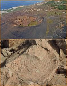 Felsritzungen im Süden von La Palma: Da Inselgäste ohne jede Kontrolle durch die Landschaft um Fuencaliente spazieren können, entstehen immer mehr Schäden - auch im archäologischen Bereich.