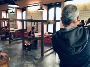 Dreharbeiten im Seidenmuseum El Paso: Filmdoku über die Hilanderas.