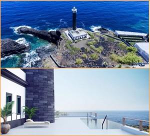 Infinity-Pool und schicke Luxus-Suiten: An der Küste von Barlovento eröffnet diese Woche das Leluchtturm-Hotel an der Punta Cumplida. Fotos: Floatel