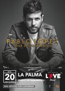 Der erste große Star beim Isla Bonita Love Festival-Konzert 2019 in Tazacorte steht fest: Pablo López hat zugesagt.