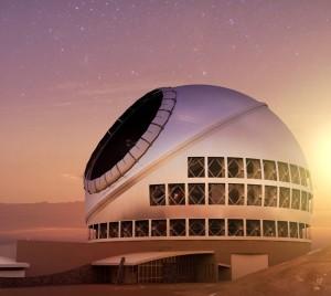 Modell des TMT: La Palma ist zwar nur der Alternativstandort, hat aber alles für den Fall der Fälle vorbereitet. Foto: TMT-Konsortium