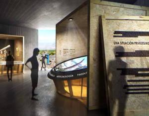 Modell des Roque-Besucherzentrums: jetzt wird es ausgestattet.