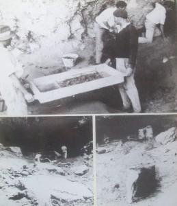 Belmaco war eine die erste Ausgrabungsstätte auf den Kanaren. Diese Fotos zeigen Archäologen bei der Arbeit in der ersten Hälfte des 20. Jahrhunderts.