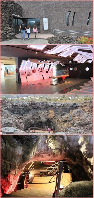 Das Besucherzentrum an der Cueva de Las Palomas in Las Manchas: Das Gebäude fügt sich harmonisch in die Vulkanlandschaft ein, innen warten stylische Ausstellungsräume und viele Infos über das Höhlensystem im Bereich von Los Llanos auf die Besucher. Highlight ist ein Gang hinunter in die Caña de Fuego von Las Manchas. Fotos: La Palma 24