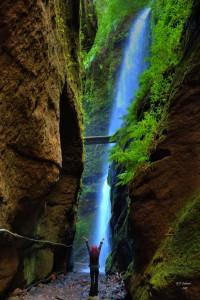 Praxis: Der Wasserfall ist eines der Highlights im Lorbeerwald.