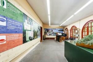 Blick ins Besucherzentrum von Los Tilos.