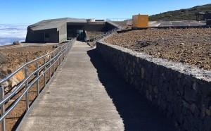 Das Besucherzentrum auf dem Roque de Los Muchachos steht: Jetzt wird der Rohbau eingerichtet.