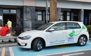 VW-Elektro-Golf: ist jetzt fürs Inselumweltamt unterwegs. Foto: Cabildo