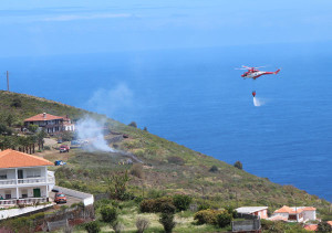 Feuer in Puntallana: zum Glück schnell gelöscht.