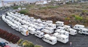 2017 waren sie in Los Cancajos (siehe Foto): In diesem Jahr kommen die Wohnmobile aufs Messegelände in El Paso.