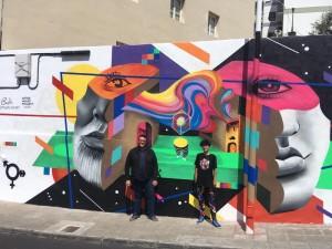 Noch ein Wandgemälde in Santa Cruz:
