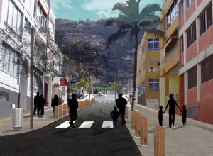 Calle Maximiliano Darias: Modell der Umgestaltung.