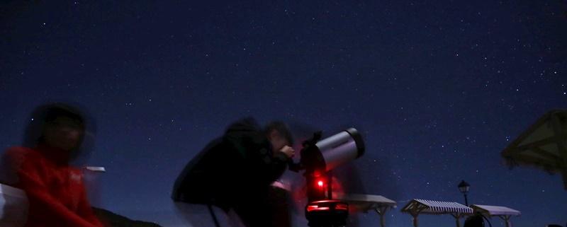 ... und in Tijarafe konnte man ebenfalls einen Blick ins Universum riskieren.