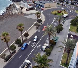 Die erste Phase der Strandstraßen-Umgestaltung: vom Hafenausgang bis zur Puente-Kreuzung. Foto: Stadt