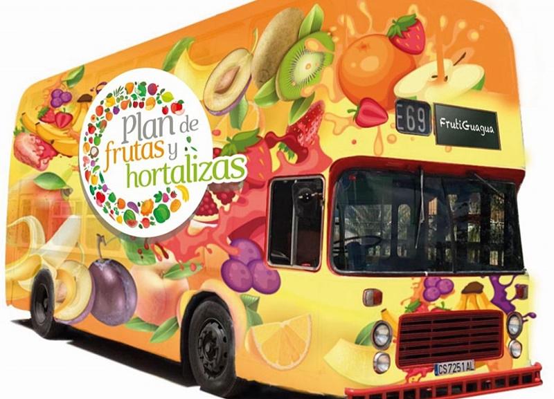 Am Samstag, 4. Mai 2019, kommt zum ersten Mal der Fruchtbus nach Santa Cruz: Dabei handelt es sich um ein pädagogisches Projekt der Kanarenregierung für Kinder zwischen drei und zwölf Jahren, das aber auch Eltern zu gesunder Ernährung anregen soll. Der Fruti-Guagua parkt von 10 bis 14 Uhr bei der Markthalle, denn mit dieser Aktion soll auch die La Recova beworben werden. Im Bus gibt es Infos an Bildschirmen, in Form von Spielen und von qualifiziertem Personal, wobei im 30- bis 40-Minunten-Takt Gruppen von maximal 25 Kindern durchgeführt werden.