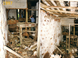 1997: Die alte Mühle von Las Tricias ist in einem sehr schlechten Zustand.
