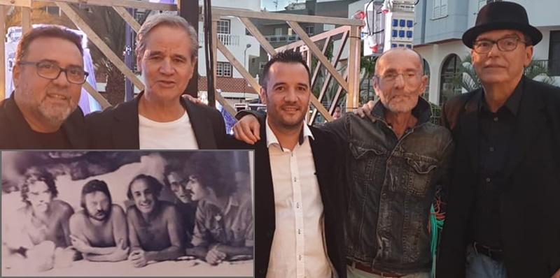 Luis Morera und seine Band Taburiente: heute und vor 40 Jahren.