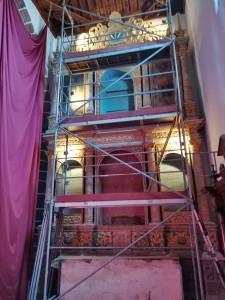 Wird saniert: Seitenaltar in der Kirche von Puntallana.