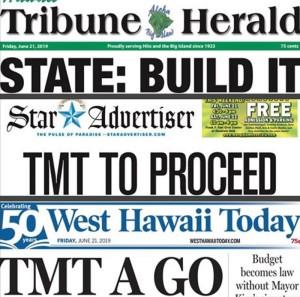 Schlagzeilen auf Hawaii: