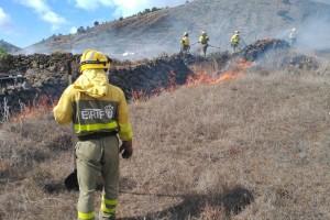 EIRIF-Truppen: heligestützte Einheiten, die auf La Palma, La Gomera und El Hierro stationiert sind und die Fire-Fighter auf den Inseln bei Waldbränden unterstützen. Foto: GobCan