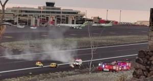Schnell gelöscht: brennende Lampe am Airport SPC.