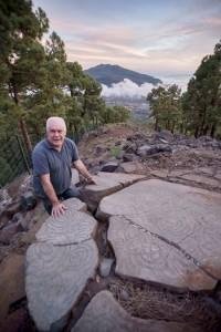 Felipe Jorge Pais Pais: Der Hüter der Ureinwohner-Schätze auf La Palma hat rund 300 der mehr als 500 Felsritzungen gefunden.