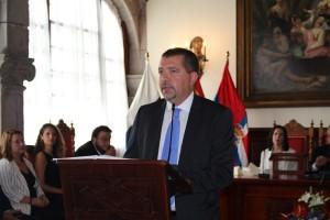 Juan Jose Cabrera Guelmes: Der PP-Politiker übernimmt den Chefsessel im Rathaus von Santa Cruz von Sergio Matos, der als Senator nun in Madrid Politik für La Palma macht. Foto: Stadt