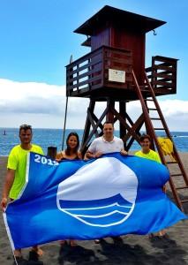 Playa Bajamar: Auch hier weht seit vielen Jahren jeden Sommer die Blaue Flagge. Foto: Breña Alta