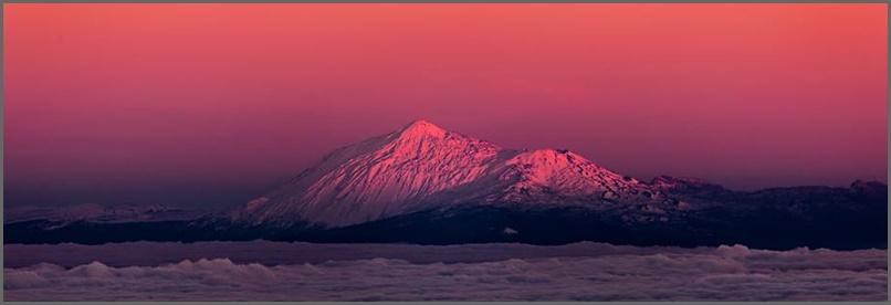Blick auf den Teide: Dieses Bild zeigt Giannis Blick vom Osten La Palmas auf den höchsten Berg der Nachbarinsel Teneriffa.