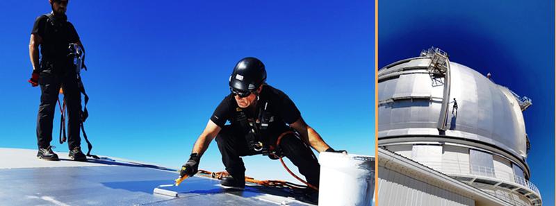 10 Jahre GTC: dazu gehört auch die Instandhaltung, die von schwindelfreien und klettergeübten Fachkräften ausgeführt wird. Foto: IAC