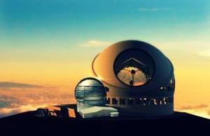 Die nächste Generation der optischen Teleskope ist im Anmarsch: Diese Fotomontage von Fernando Rodríguez zeigt, dass das GTC gegen das geplante TMT wie ein Zwerg wirkt.