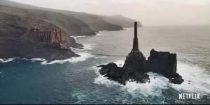 Szene aus The Witcher: gedreht an der Küste von Garafía.