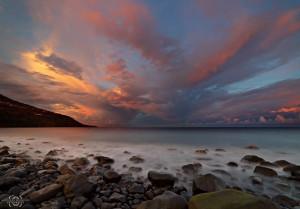 Sunset überm Atlantik vor La Palma: Gianni fotografiert auch oft Landschaften von La Palma.