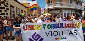 Der Violetas-Marsch 2018 in Tazacorte schrieb Geschichte: Zum ersten Mal gab es eine stolze Kundgebung für Toleranz und Gleichheit auf der Insel.
